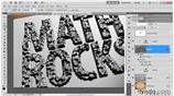 Image for Masking block letters with the Magic Wand
