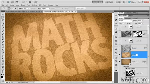 Tracing halos around the letter backs: Photoshop CS5 Extended One-on-One: 3D Type Effects