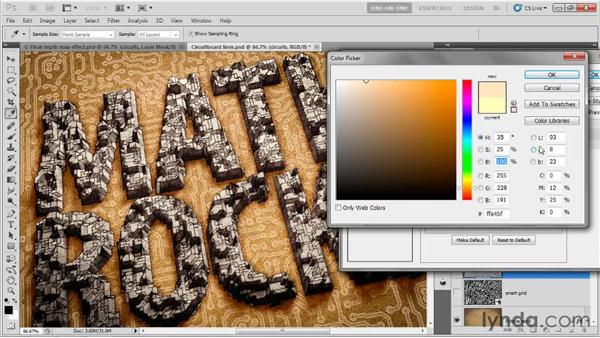 Making a complex pattern glow: Photoshop CS5 Extended One-on-One: 3D Type Effects