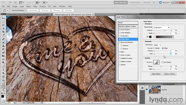 Masking away the forward extrusions: Photoshop CS5 Extended One-on-One: 3D Type Effects