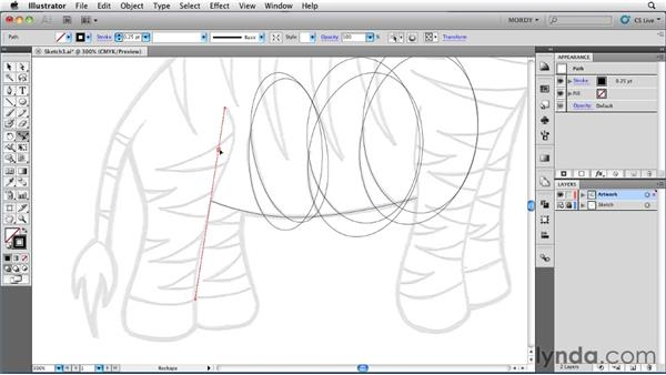 Creating curves with the Reshape tool: Illustrator Insider Training: Drawing without the Pen Tool