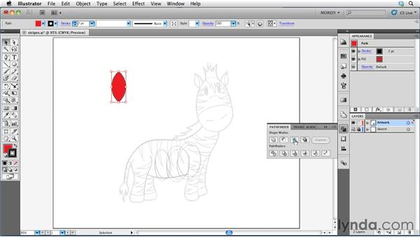 Using the Shape Modes functions: Illustrator Insider Training: Drawing without the Pen Tool