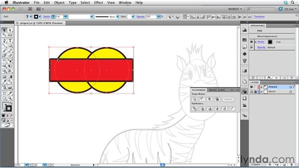 Using the Pathfinder functions: Illustrator Insider Training: Drawing without the Pen Tool