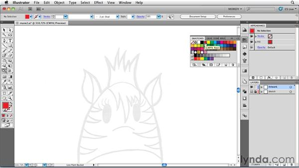 Using the Live Paint Bucket tool: Illustrator Insider Training: Drawing without the Pen Tool