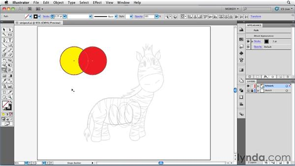 Using the Shape Builder tool to add and subtract artwork: Illustrator Insider Training: Drawing without the Pen Tool