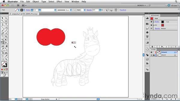 Building and coloring artwork at the same time: Illustrator Insider Training: Drawing without the Pen Tool