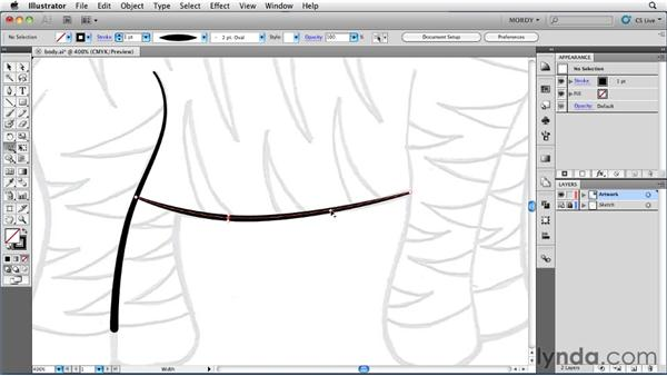 Modifying width points along a path: Illustrator Insider Training: Drawing without the Pen Tool