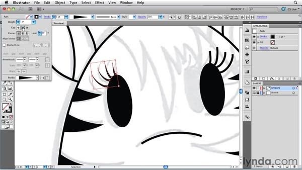 Saving time with width profiles: Illustrator Insider Training: Drawing without the Pen Tool