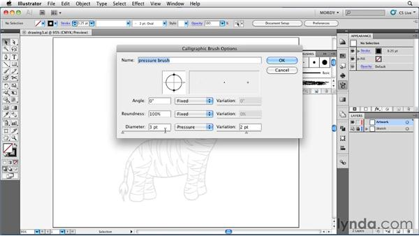 Drawing with the Calligraphic Brush tool: Illustrator Insider Training: Drawing without the Pen Tool
