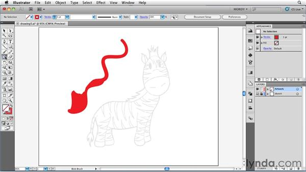 Using the Eraser tool: Illustrator Insider Training: Drawing without the Pen Tool