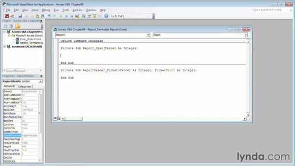 Discovering a record source: Up and Running with VBA in Access
