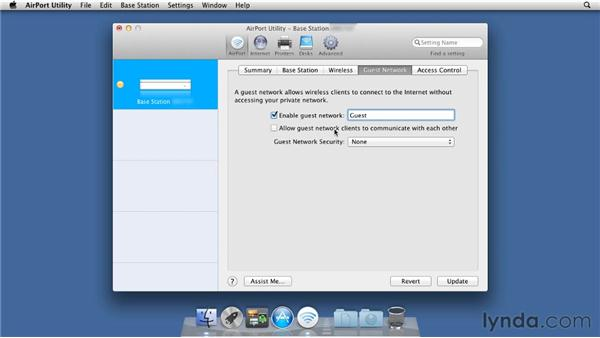 Using the AirPort Utility to set up your AirPort Extreme: Mac OS X Lion Server Essential Training