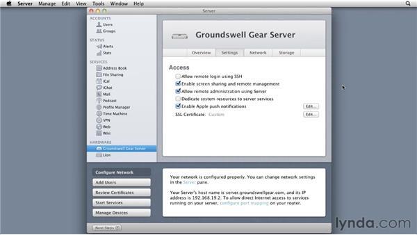 Understanding how Lion uses SSL: Mac OS X Lion Server Essential Training