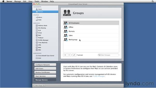 Creating Users and Groups in your ODM: Mac OS X Lion Server Essential Training