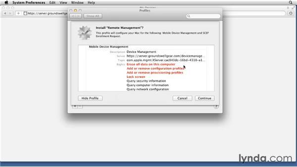 Getting profiles onto your Mac: Mac OS X Lion Server Essential Training