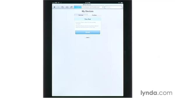 Getting profiles onto your iOS device: Mac OS X Lion Server Essential Training