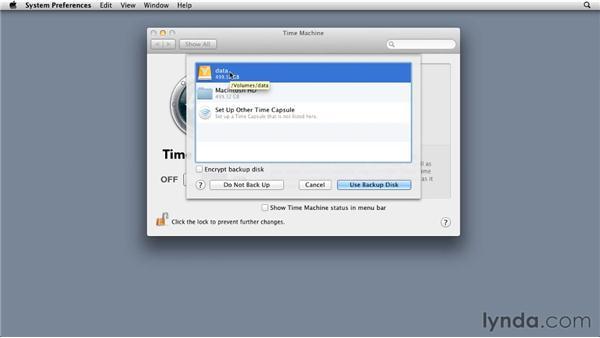 Backing up your server: Mac OS X Lion Server Essential Training