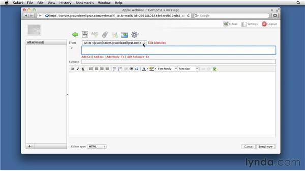 Using the new webmail service: Mac OS X Lion Server Essential Training