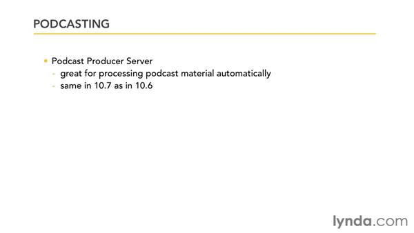 Differences between Podcast Producer and Podcast Publisher: Mac OS X Lion Server Essential Training