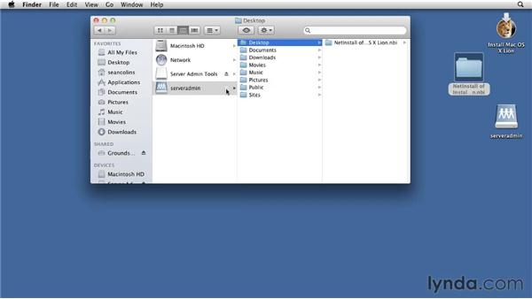 Using System Image Utility to create a NetInstall set: Mac OS X Lion Server Essential Training