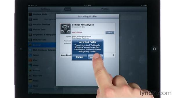 Enrolling devices for autoconfiguration: Mac OS X Lion Server Essential Training