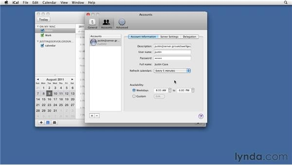 Using Snow Leopard to connect to file sharing and collaboration services and mail: Mac OS X Lion Server Essential Training