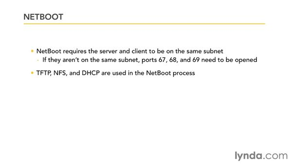 Troubleshooting NetBoot in a multi-subnet environment: Mac OS X Lion Server Essential Training