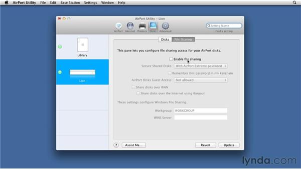 Verifying open ports on the AirPort Extreme: Mac OS X Lion Server Essential Training