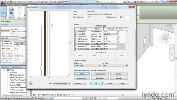 Working with wall layers: Rendering with Revit Architecture 2012
