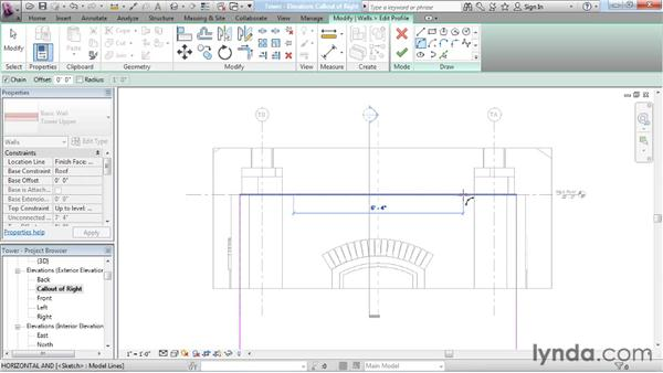 Constructing wall profiles: Rendering with Revit Architecture 2012
