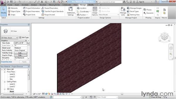 Creating a new material: Rendering with Revit Architecture 2012