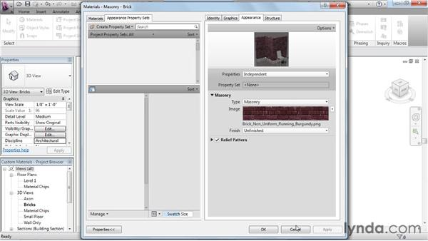 Editing a material texture: Rendering with Revit Architecture 2012