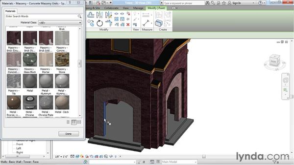 Overriding material assignments: Rendering with Revit Architecture 2012