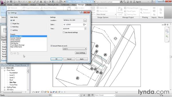 Understanding sun settings: Rendering with Revit Architecture 2012