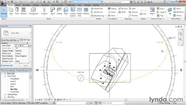 Working with the sun path: Rendering with Revit Architecture 2012