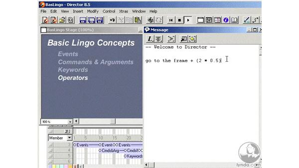 basic lingo concepts: Learning Director 8.5