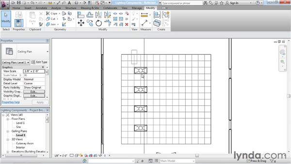 Inserting artificial lights: Rendering with Revit Architecture 2012