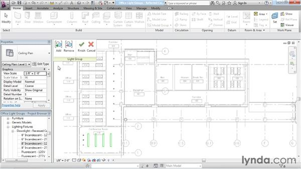 Working with lighting groups: Rendering with Revit Architecture 2012