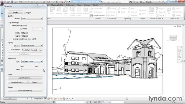 Understanding the rendering process : Rendering with Revit Architecture 2012