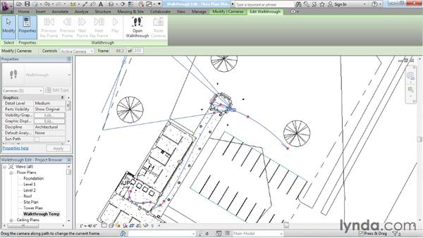 Editing a walkthrough: Rendering with Revit Architecture 2012