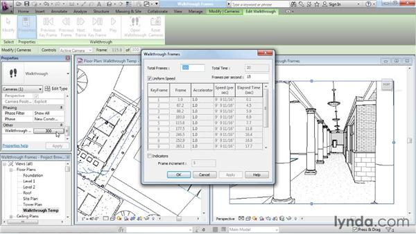 Fine-tuning walkthrough frames: Rendering with Revit Architecture 2012