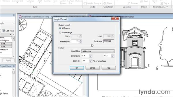 Outputting a walkthrough: Rendering with Revit Architecture 2012