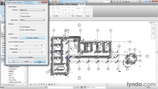 Adjusting graphic display options: Rendering with Revit Architecture 2012