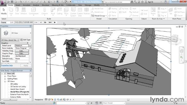 Developing a solar study: Rendering with Revit Architecture 2012