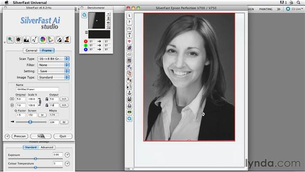 Assigning a scan frame: Scanning Techniques for Photography, Art, and Design