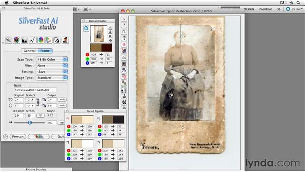 Adjusting distressed images: Scanning Techniques for Photography, Art, and Design