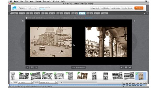 Placing photos on pages: Creating Photo Books with Blurb