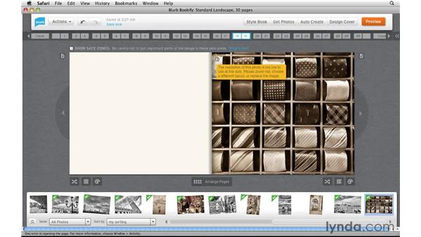 Troubleshooting image size issues: Creating Photo Books with Blurb