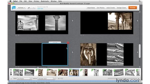 Adding, deleting, and moving pages: Creating Photo Books with Blurb