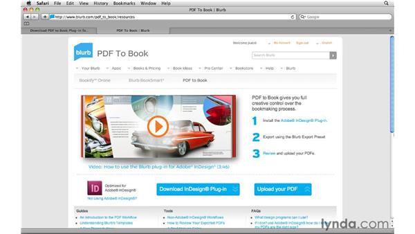 Why use PDF to Book with Adobe InDesign?: Creating Photo Books with Blurb